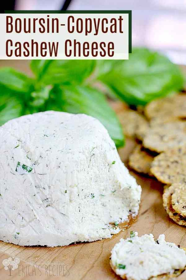 Boursin-Copycat Cashew Cheese #recipe #food #vegan #vegetarian #copycatrecipe