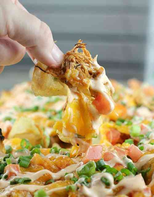 Loaded Sriracha Chicken Kettle Chips #timetocrunch #ad