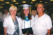 Graduation with my grandparents, 2007.