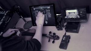 Cassette tape loop + Location recording + Violin.