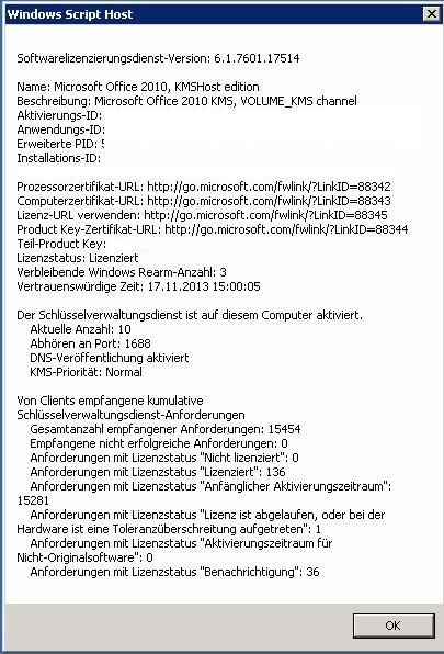 Blogserie: VAMT - Volume Activation Management Tool 3.1 (Teil 3/3) - Verwaltung (3/6)
