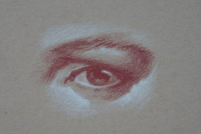 Red and White Chalk 8x11 2013
