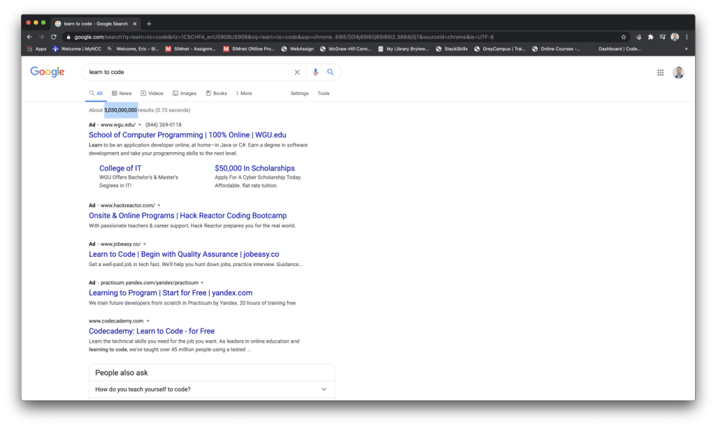 search results for learn to code
