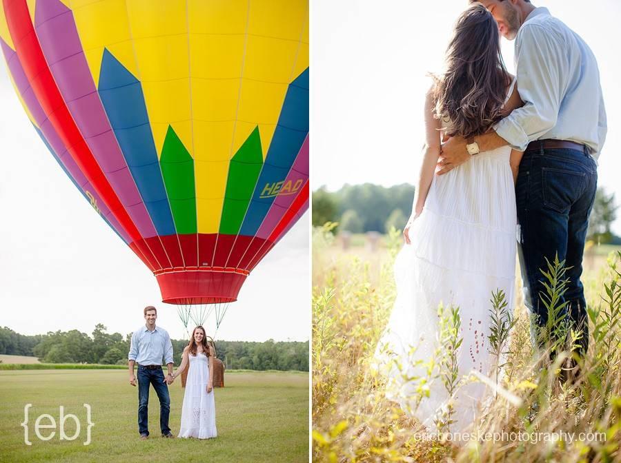 Raleigh NC Hot Air Balloon Engagement SessionEric Boneske