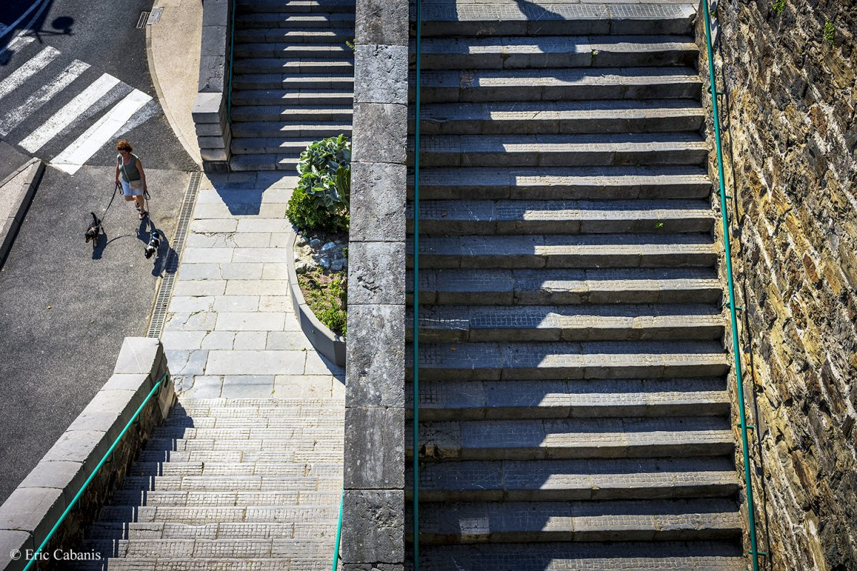 Stairs near the docks at Port-Vendres on June 27, 2020 Eric Cabanis Photojournalist