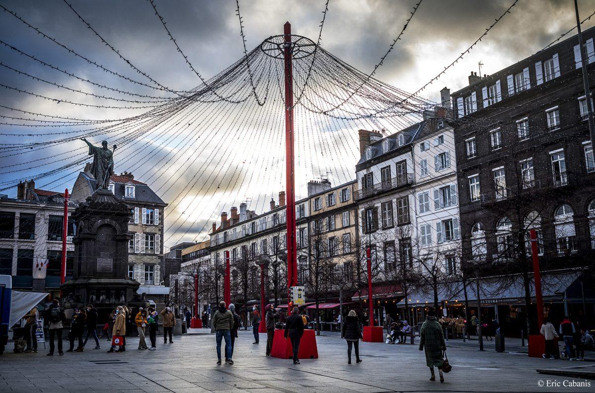 Downtown Clermont-Ferrand, central France, December 30, 2020 Eric Cabanis photographer