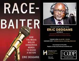 Harvard Coop Author Series - Eric Deggans Race Baiter @ Harvard COOP Bookstore | Arlington | Massachusetts | United States