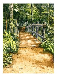 "Lovers Lane 11"" x14"" matted"