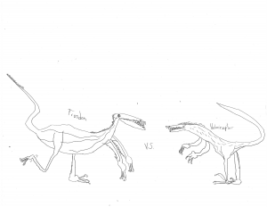 troodon coloring page - troodon vs velociraptor coloring page eric 39 s activity pages