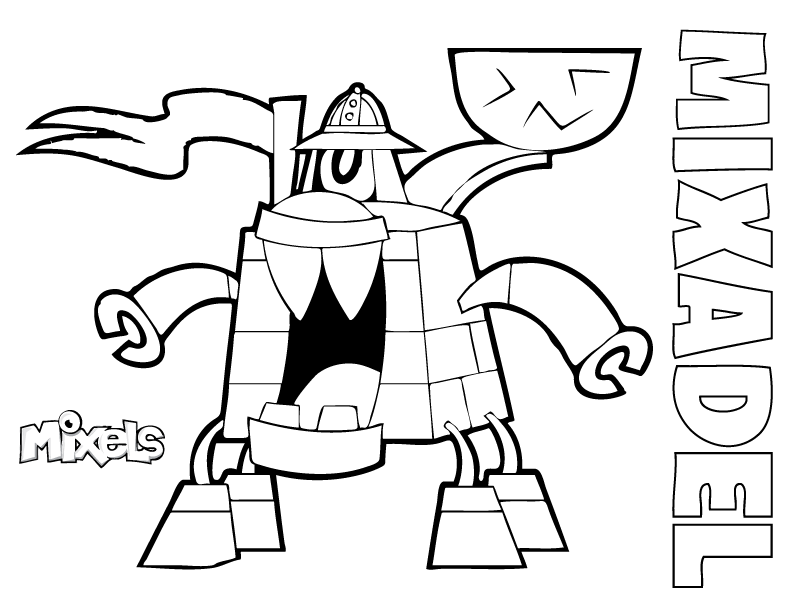 lego mixels coloring pages - mixel coloring page my little corner
