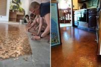 Copper Pennies + Clear Resin = Beautiful Floor | ERIC.fm