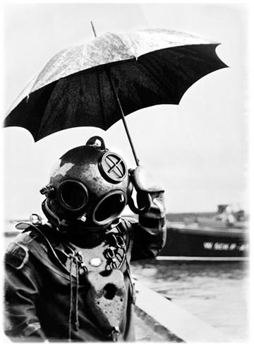 Diver & Umbrella