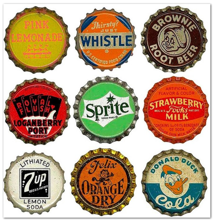 Vintage Bottle Caps 1