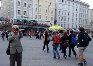 Oskar in Salzburg shooting photos.