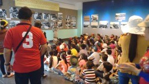 School children at the War Remnants museum.