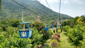 The chair lift up the once VC dominated Black Virgin Mountain outside Tay Ninh City.