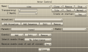 actor control for view