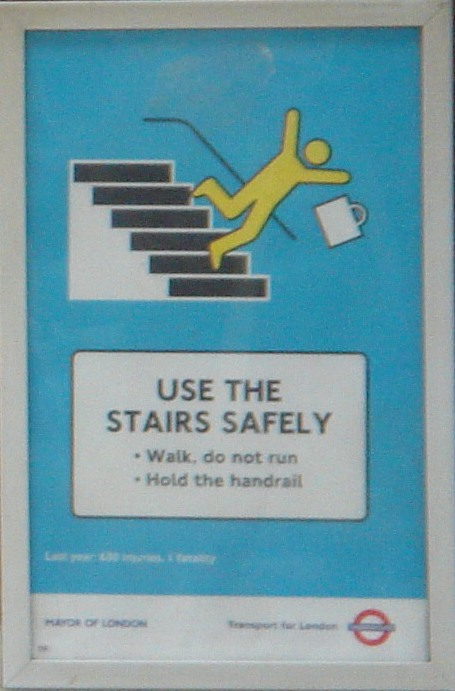 Use the stairs safely, London Tube