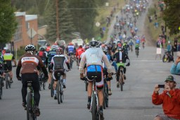 Erich Wegscheider starting the 2014 Leadville Trail 100 MTB