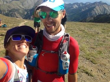 Erich Wegscheider and Sonja Wieck at the Leadville Trail 100 Run