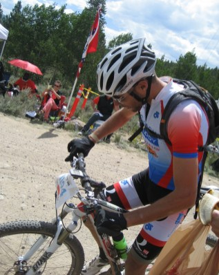 Erich Wegscheider at the Leadville Trail 100 MTB