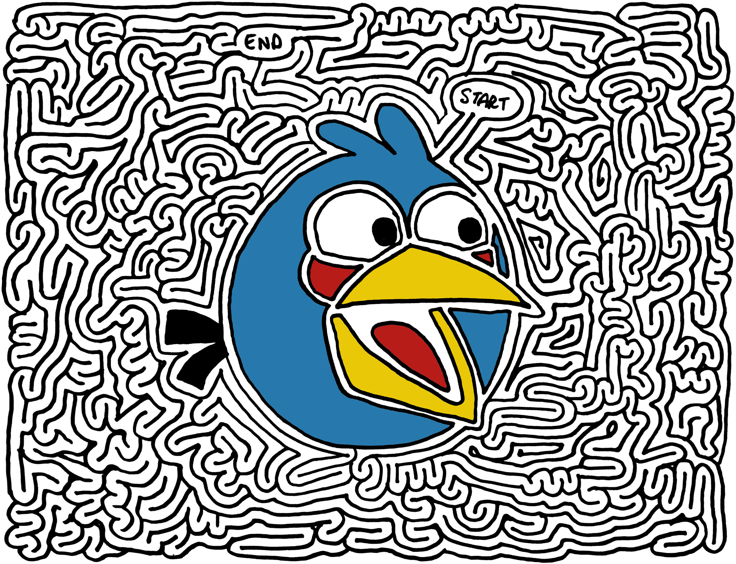 Mazes Angry Birds