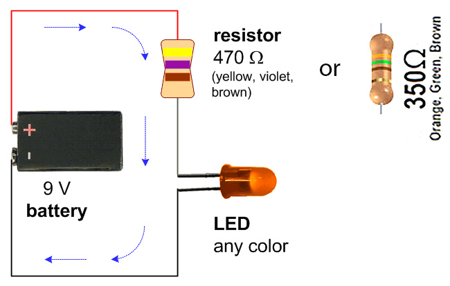 Wiring Diagram Simple Led Circuit With 9v Battery Eric J Forman Teaching