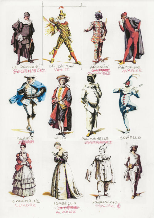 Personnages De La Commedia Dell Arte : personnages, commedia, Commedia, Dell'Art, Joisel