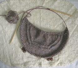 Shetland Heather wool on 5 mm needles