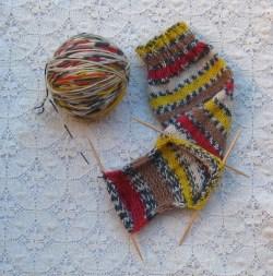 WYS socks on Brittany dpns