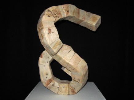 Courbes - Assemblage de pieds de palettes de livraison - 55 x 40 x 24 cm