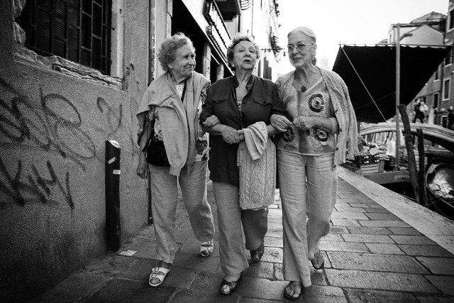 """""""3 Venetian Ladies"""" - Venice, Italy."""
