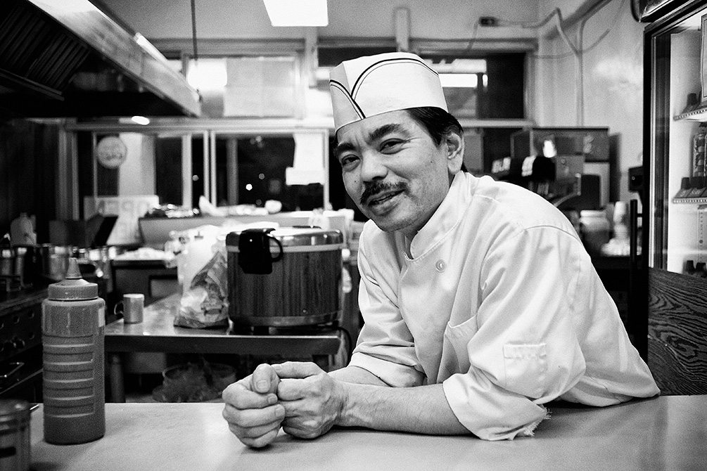 """Shinji"" - Head chef of Oki's Dog on Pico"