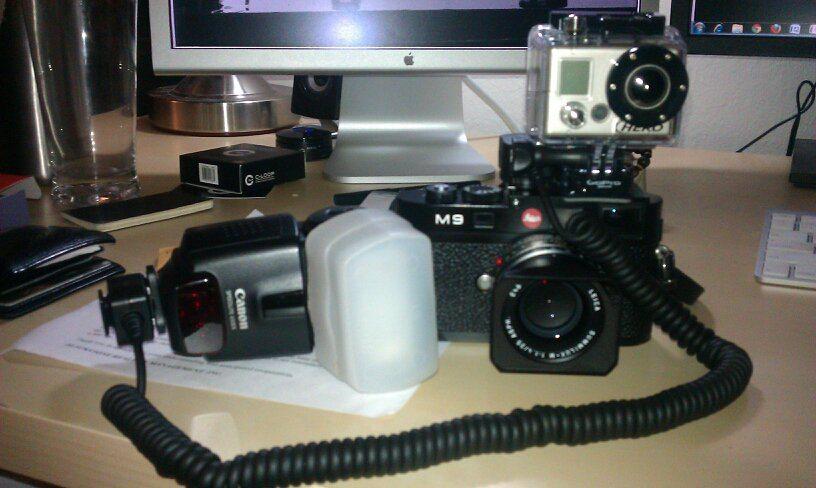Leica M9, Canon 430ex Flash, GoPro HD 960