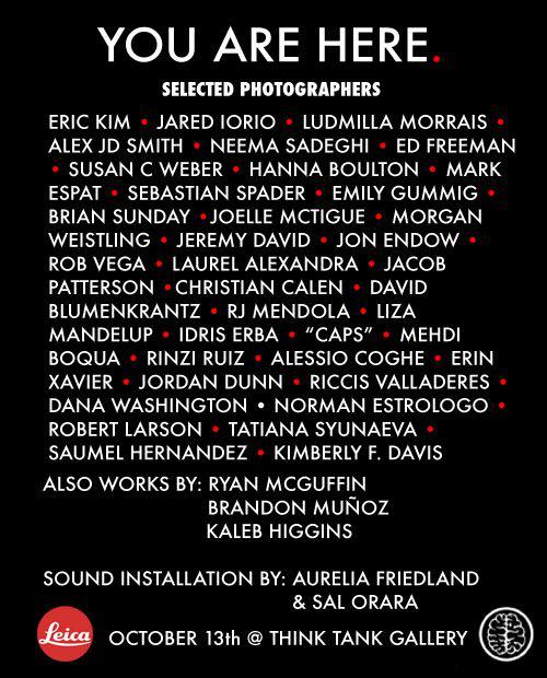 YOU ARE HERE Street Photography Exhibition Opening TONIGHT in Downtown LA at 7:00PM