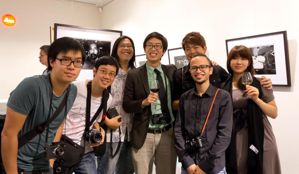 "At the Leica store in Singapore for my ""Proximity"" Exhibition in 2012."