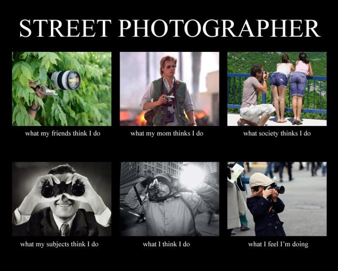 What Street Photographers Actually Do Meme