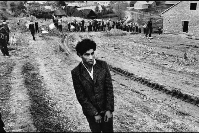 CZECHOSLOVAKIA. 1963. Slovakia. Jarabina. Reconstruction of a homicide. © Josef Koudelka / Magnum Photos