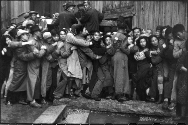 Photograph by Henri Cartier-Bresson about the uprisings in China, on assignment as a photojournalist.