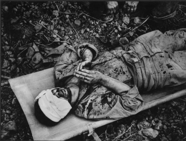 w. eugen smith  okinawa, soldier praying