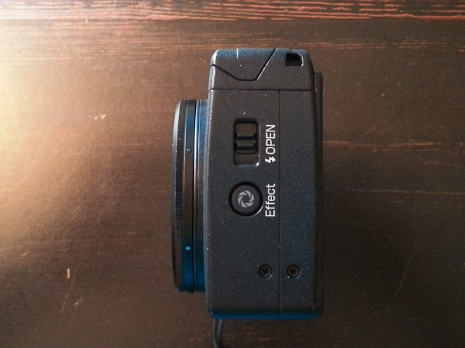 Easy to access flash on the side