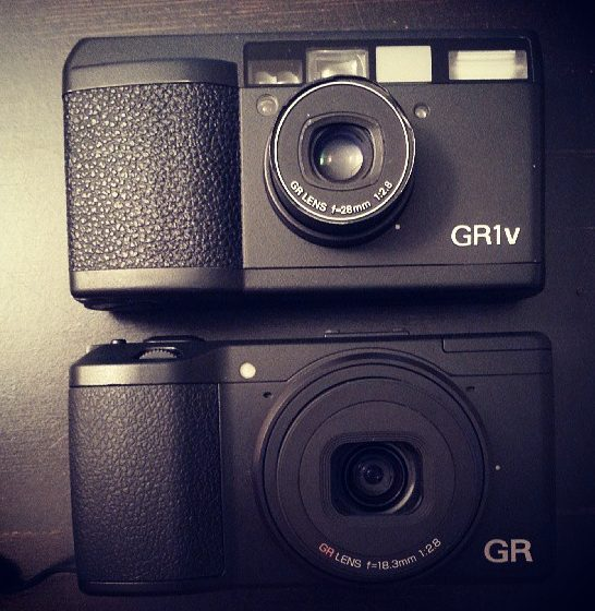Big brother and little brother: Ricoh GR1V and Ricoh GRD V