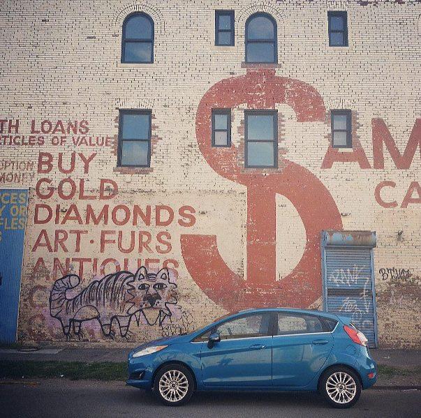 2014 Ford Fiesta parked in Detroit
