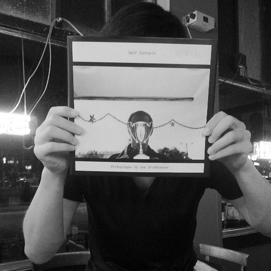 "Thanks to Servando Gomez for this awesome ""Self Portrait"" book by Lee Friedlander!"