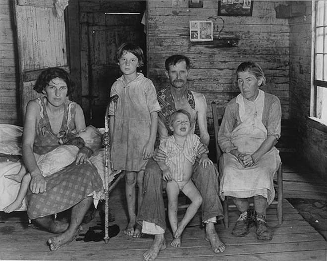 Sharecropper's Family, Hale County, Alabama. March 1936