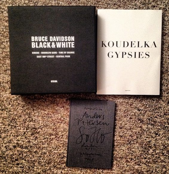 Some of my favorite black and white books. Bruce Davidson's