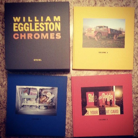 """William Eggleston's """"Chromes"""" - expensive when I bought it (~$300) but now selling over $500 (books are a great financial investment too)."""