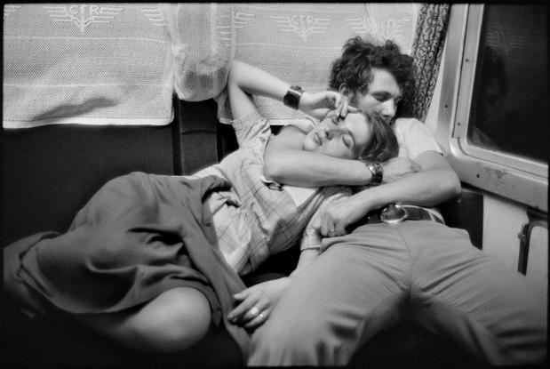 © Henri Cartier-Bresson / Magnum Photos. ROMANIA. 1975. In a train.