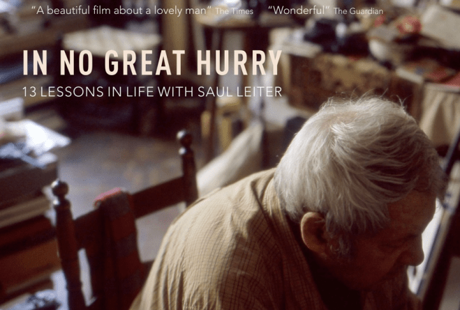 "Saul Leiter's ""In No Great Hurry"" Film Releasing Nov 16th in NYC!"