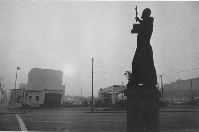 St Francis, gas station and City Hall, LA 1955